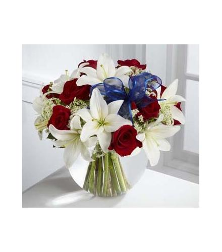 Photo of flowers: The FTD Red White and Blue Bouquet
