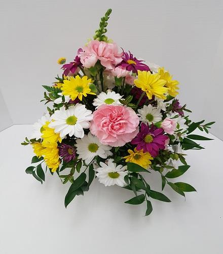 Photo of flowers: Warm Colors Vase Bouquet