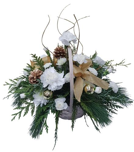 Photo of flowers: White Holiday Basket