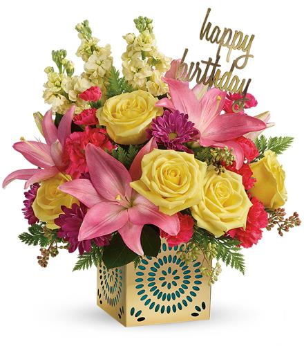 Photo of flowers: Blooming Birthday Bouquet