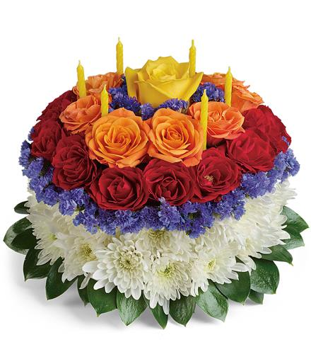 Photo of flowers: Your Wish Is Granted Birthday Cake Bouquet