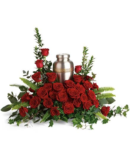Photo of flowers: Forever In Our Hearts Cremation Tribute T280-1
