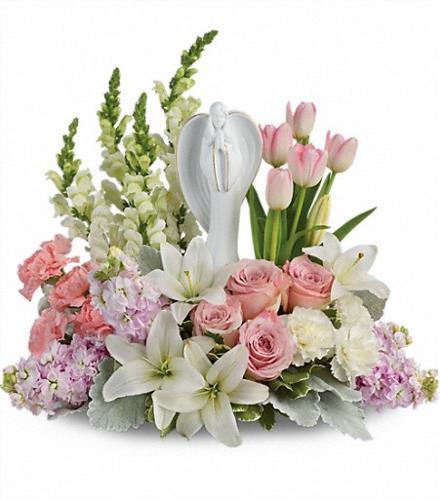 Photo of flowers: Garden Of Hope Angel Bouquet