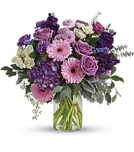Photo of flowers: Magnificent Mauves Bouquet T281-6