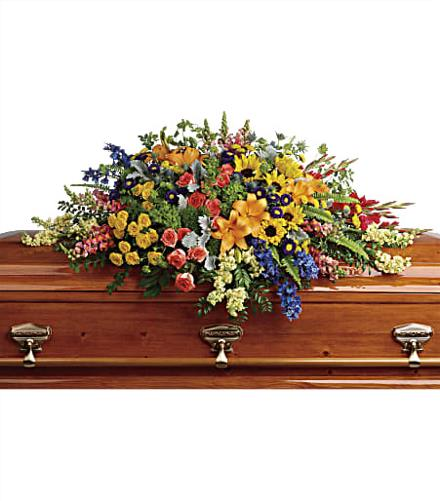 Photo of flowers: Colorful Reflections Casket Spray