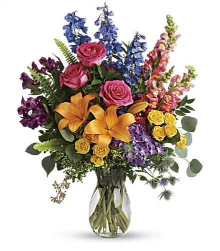Photo of flowers: Colors Of The Rainbow Bouquet T282-9