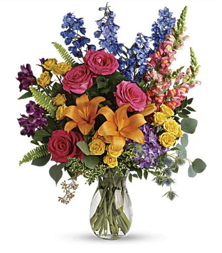 Photo of flowers: Colors Of The Rainbow Bouquet