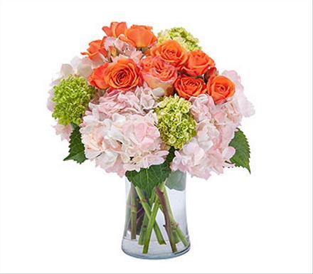 Photo of flowers: Beauty Orange Blossom Vase
