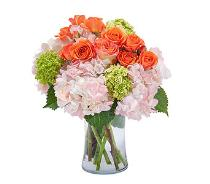 Photo of flowers: Beauty Orange Blossom Vase