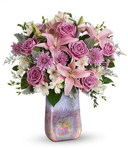 Photo of flowers: Art Glass Treasure Bouquet T19M500