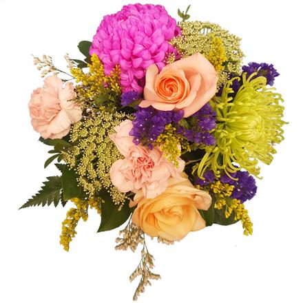 Photo of flowers: Please and Thank you Centerpiece in Vase BF11165
