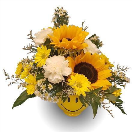 Photo of flowers: Happy Face Sunflower Mug