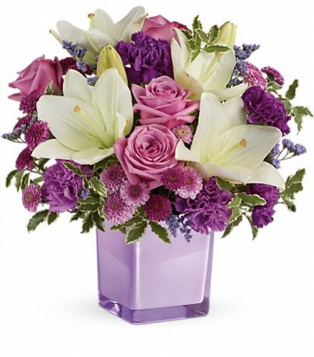Photo of flowers: Pleasing Purple Bouquet   TEV45-1