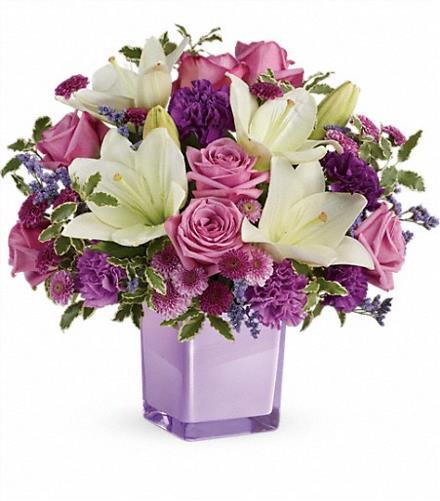Photo of flowers: Pleasing Purple Bouquet