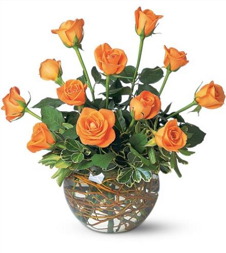 Photo of flowers: Dozen Orange Roses