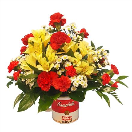 Photo of flowers: Campbell's Soup Mug by Brant