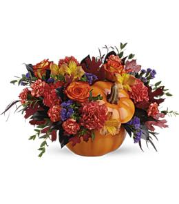 Photo of flowers: Hauntingly Pretty Pumpkin Bouquet