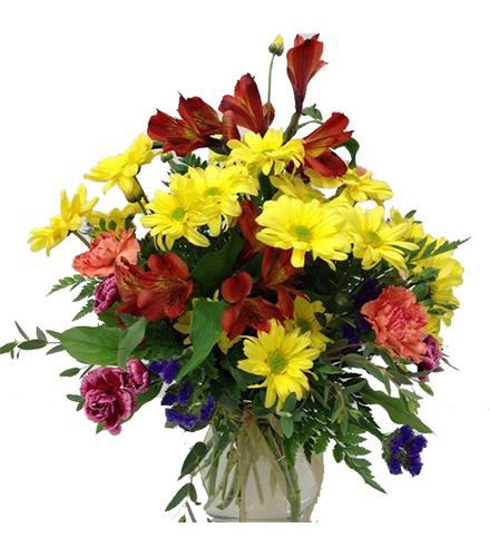 Photo of flowers: Mixed Fall Flowers in Vase