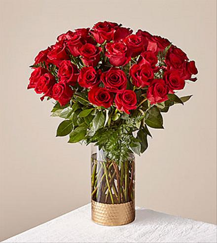 Photo of flowers: True Love Red Rose Bouquet