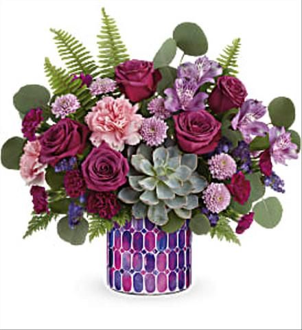 Photo of flowers: Bedazzling Vase Beauty Bouquet
