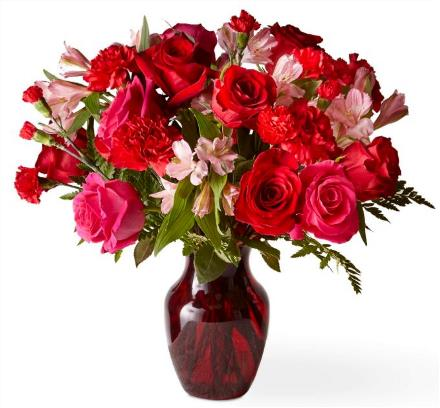 Photo of flowers: The Ruby Red Bouquet