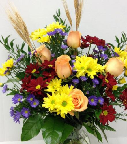 Photo of flowers: Autumn Spray with Roses BF