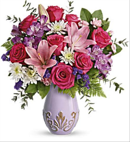 Photo of flowers: Lavishly Lavender Vase Bouquet