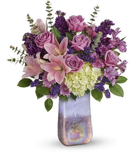 Photo of flowers: Purple Swirls Bouquet