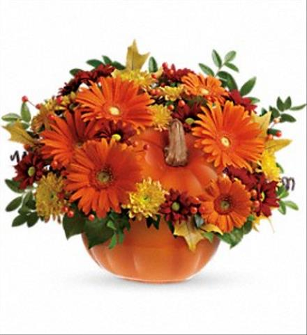 Photo of flowers: Teleflora's Country Pumpkin