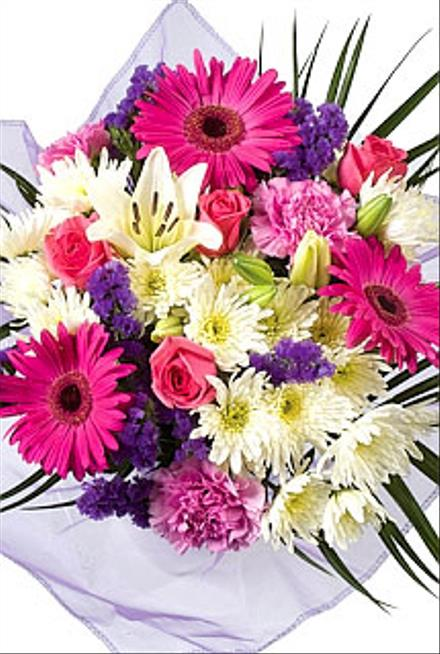 Photo of flowers: Hand Tied Cut Bouquet  NO vase