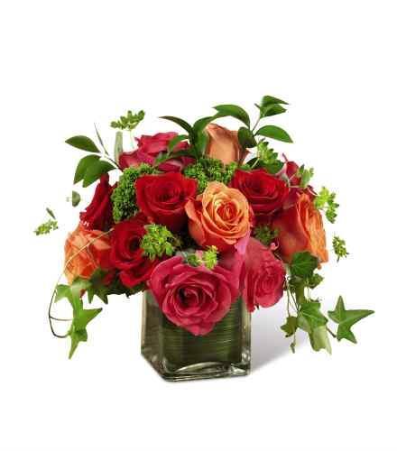 Photo of flowers: The  Lush Life Rose Arrangement