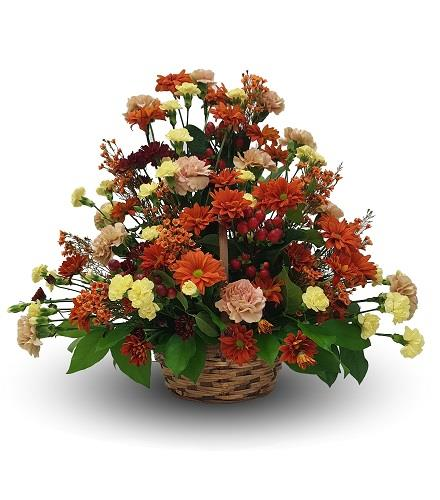 Photo of flowers: Fall Side Table Arrangement