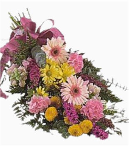 Photo of flowers: Hand Tied Bouquet with Gerbera