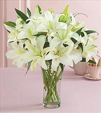 Photo of White Lily Vase  - FFL1