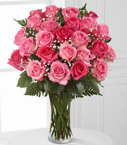 Photo of flowers: Pink Rose Bouquet 12, 18, OR 24