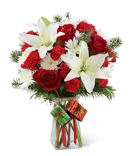 Photo of flowers: Joyous Christmas - Holiday in Vase