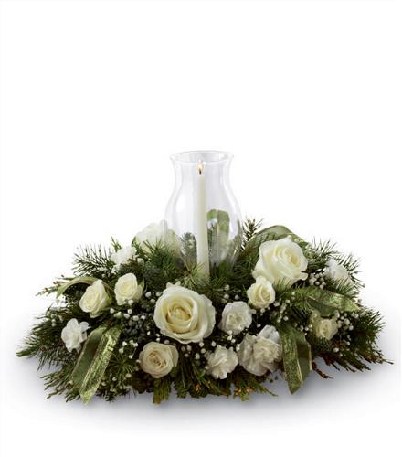 Glowing elegance centerpiece ftd christmas centerpieces