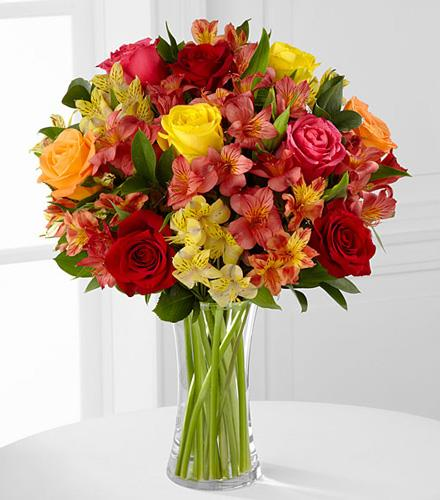 Photo of flowers: Gratitude Blooms Mixed in Vase