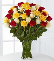 Photo of Joyful Luxury Rose Bouquet - 36 Stems of 24-inch Premium Long Stemmed Roses - LX08