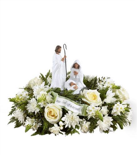 Photo of flowers: Mary, Joseph, Baby Jesus Keepsake Figurine