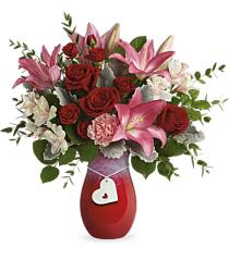 Photo of In Love with Red Roses Bouquet V1R - 18-V1R