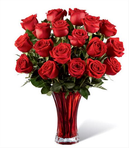 Photo of flowers: In Love with Red Roses Bouquet 17V3R