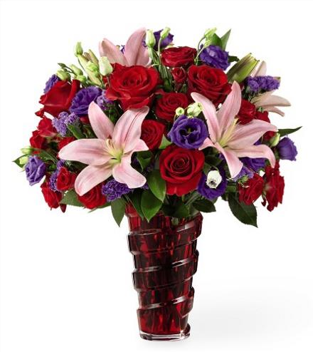 Photo of BF2102/17-V7d (Approx. 12 Stems - Vase Included)