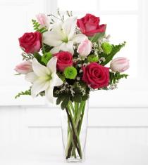 Photo of Floral Expressions Vase Lilies and Roses  - xx-4607