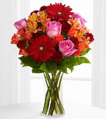 Photo of Dawning Love Bouquet in Vase - XX-4603