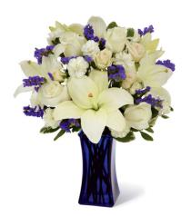 Photo of Beyond Blue Bouquet in Vase - CDBD