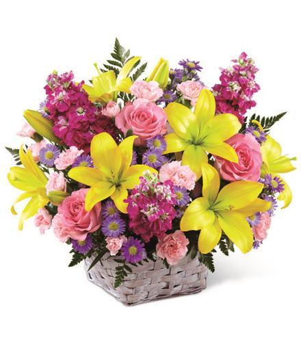 Photo of flowers: Bright Lights Basket