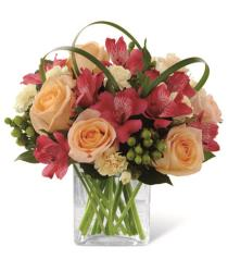 Photo of flowers: All Aglow Bouquet in Vase