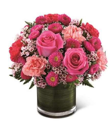 Photo of flowers: Pink Pursuits Bouquet by FTD