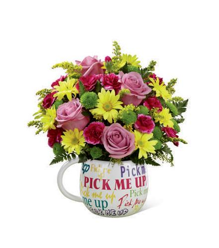 Photo of flowers: Pick-Me-Up Bouquet in Mug